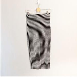 NWT Zara Striped Long Stretchy Pencil Skirt